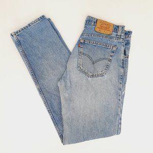 Vintage Levi's 504 Jeans Straight Leg Blue Distres